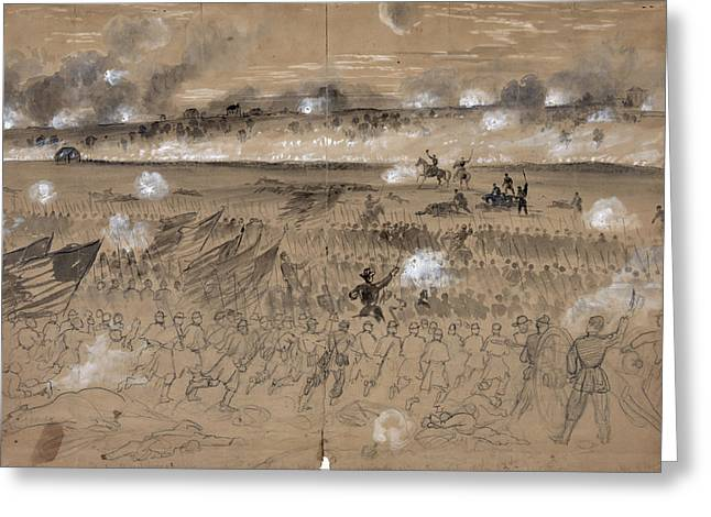 Battle Of Fredericksburg Greeting Card by Granger