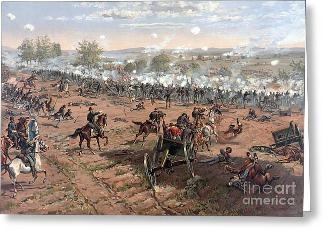 Battle Of Gettysburg Picketts Charge Greeting Card