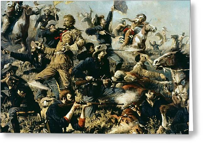 Battle Of Little Bighorn Greeting Card