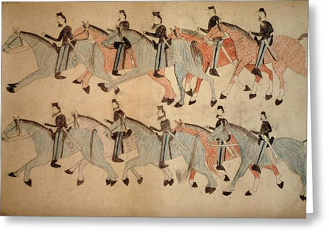 Battle Of Little Bighorn Greeting Card by Granger
