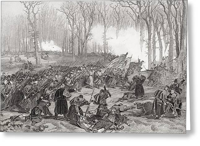 Fishing Creek Greeting Cards - Battle Of Mill Creek Kentucky 1862 Greeting Card by Ken Welsh