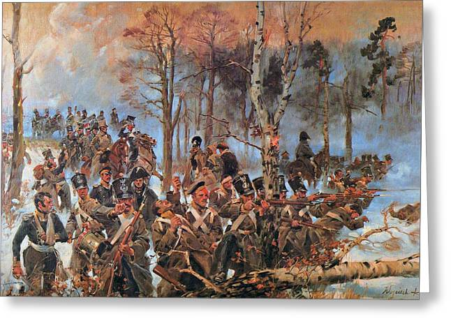Battle Of Olszynka Grochowska Greeting Card