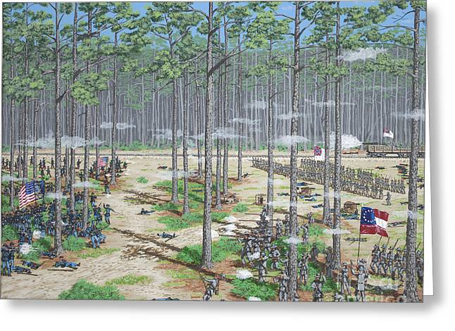 Battle Of Olustee Florida Greeting Card by Philip Capps