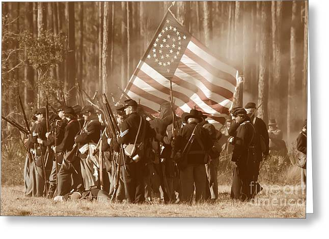 Battle Of Olustee Greeting Card by Rick Mann