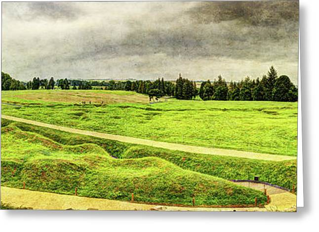 Battle Of The Somme Trench Frontline At Beaumont-hamel - Vintage Version Greeting Card by Weston Westmoreland