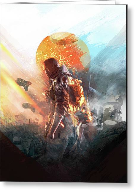 Battlefield Poster Greeting Card