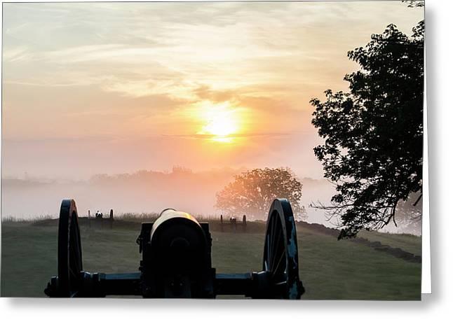 Battlefield Sunrise Greeting Card by Bill Caldwell