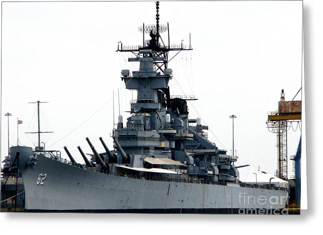 Battleship New Jersey Greeting Card by Kevin Fortier