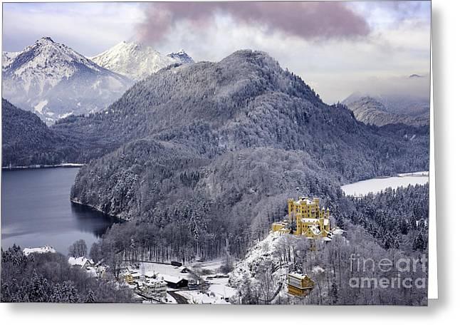 Hohenscwhangau Castle - Bavaria Greeting Card by Brian Jannsen