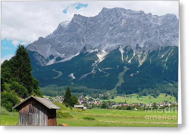 Bavarian Alps Landscape Greeting Card by Carol Groenen