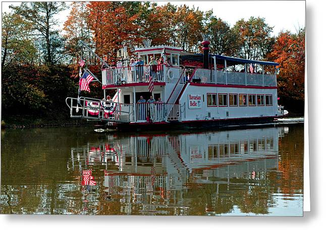 Greeting Card featuring the photograph Bavarian Belle Riverboat by LeeAnn McLaneGoetz McLaneGoetzStudioLLCcom