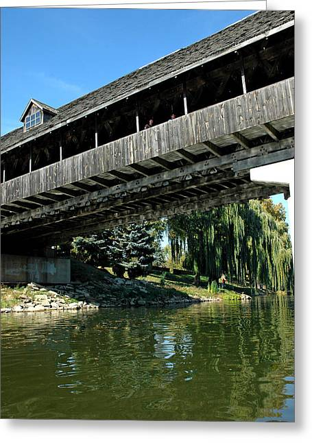 Greeting Card featuring the photograph Bavarian Covered Bridge by LeeAnn McLaneGoetz McLaneGoetzStudioLLCcom