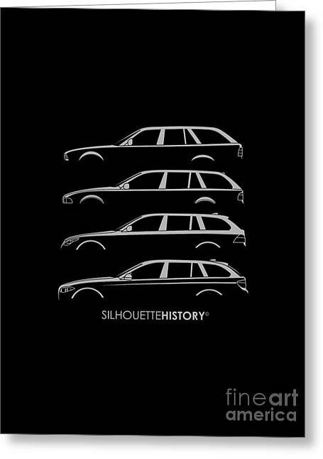 Bavarian Five Wagon Silhouettehistory Greeting Card by Gabor Vida