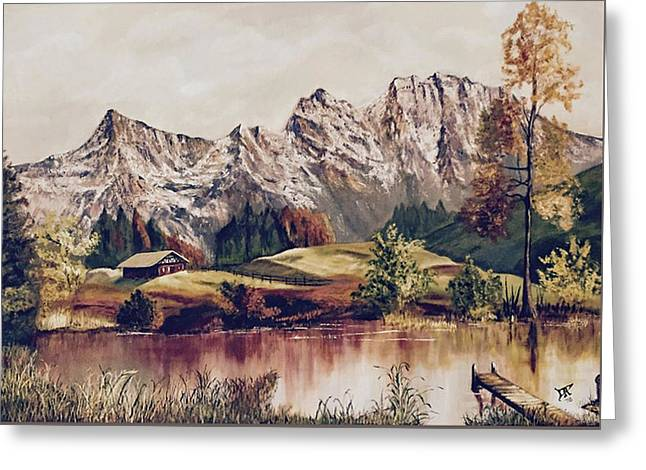 Bavarian Landscape Greeting Card