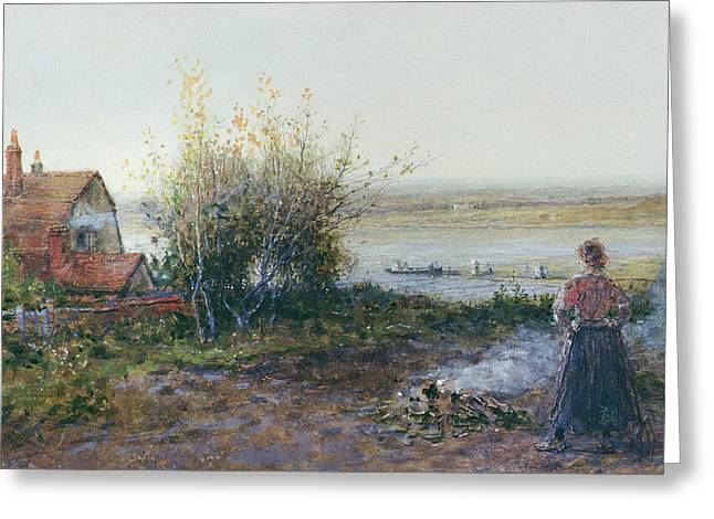 Bawdsey Ferry Greeting Card by George Henry Boughton