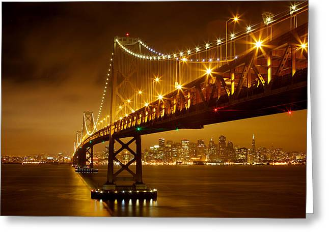 Greeting Card featuring the photograph Bay Bridge by Evgeny Vasenev