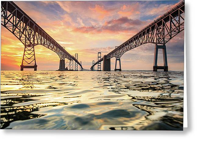 Bay Bridge Impression Greeting Card