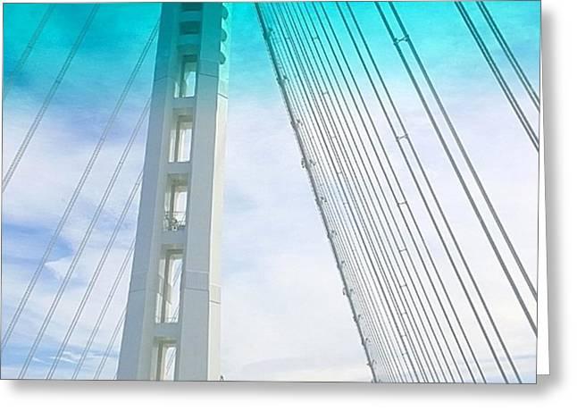 Bay #bridge Section. Love The Aqua Tint Greeting Card