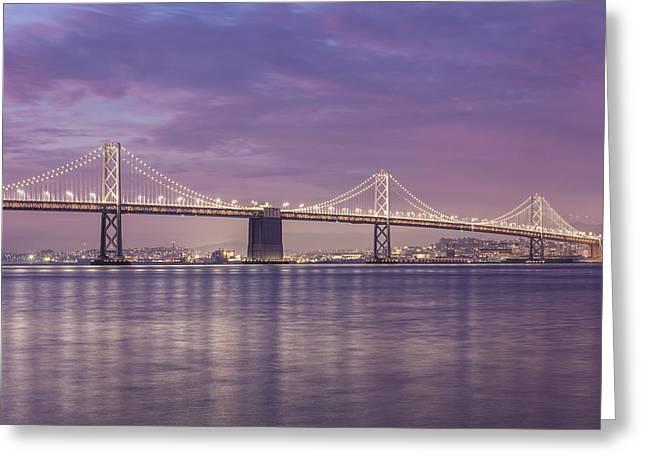 Bay Bridge Sunrise Greeting Card