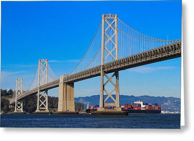 Bay Bridge With Apl Houston Greeting Card