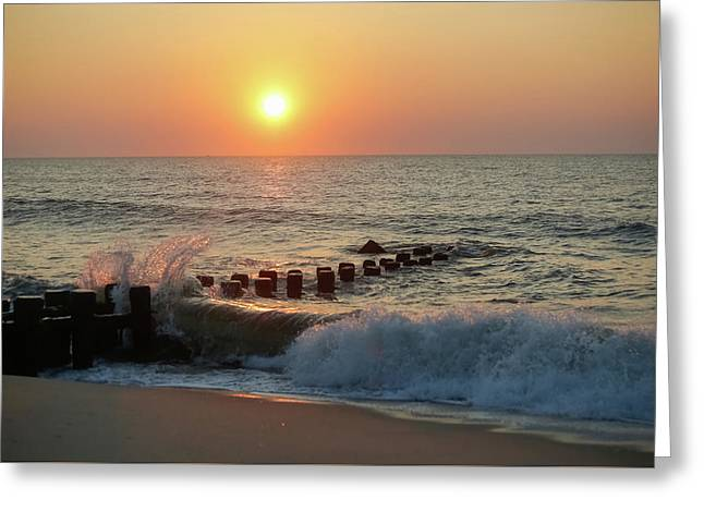 Bay Head Beach Sunrise 1 Greeting Card