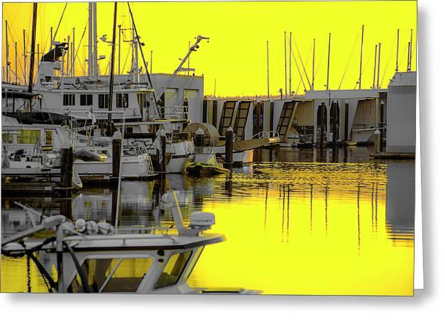 Bay In Yellow Greeting Card