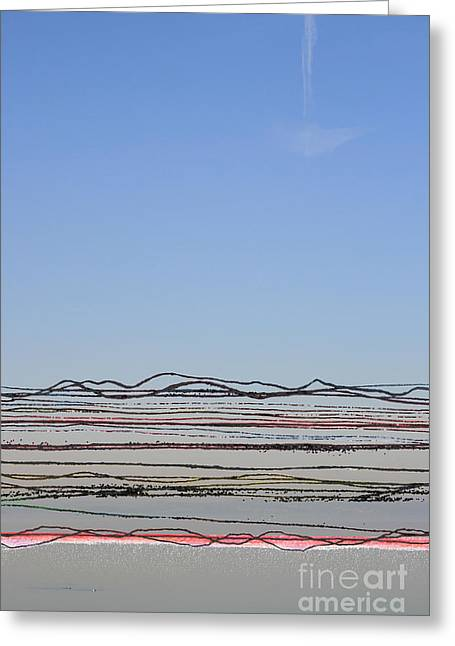 Bay Lines Greeting Card by Andy  Mercer