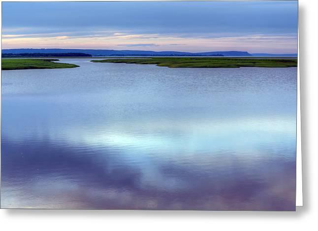 Bay Of Fundy - Nova Scotia - High Tide Greeting Card by Nikolyn McDonald