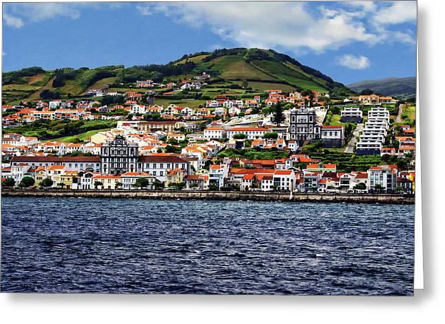 Bay Of Horta Greeting Card by Anthony Dezenzio