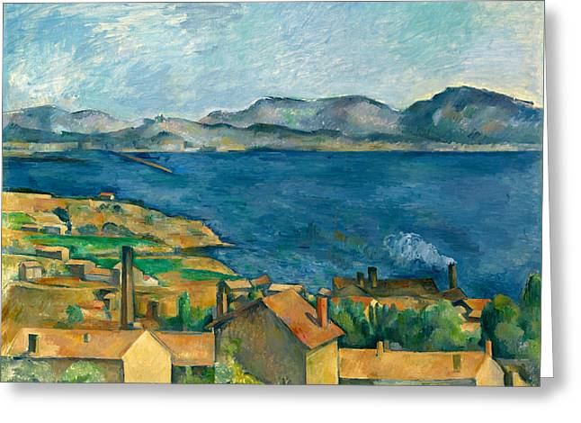 Bay Of Marseille, View Of The Estaque Greeting Card