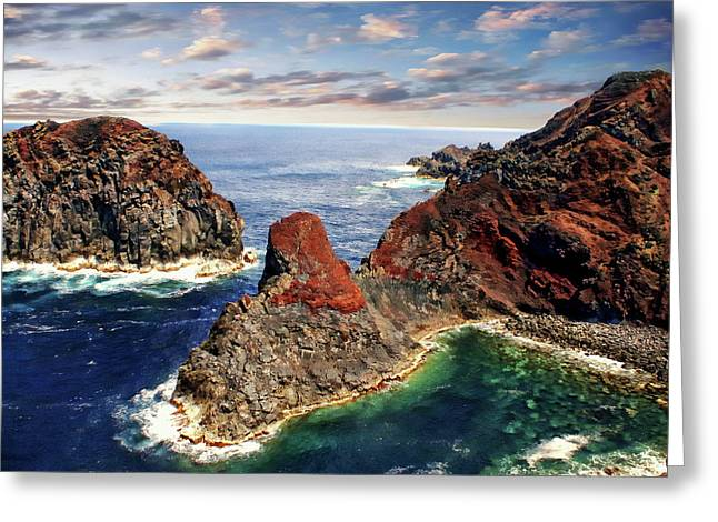 Bay Of Ponta Da Barca Greeting Card