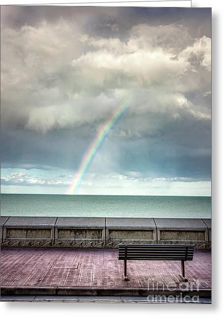 Bay Of Rainbows Greeting Card