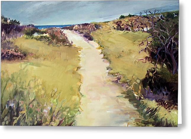 Bay Path Greeting Card by Diane Ursin