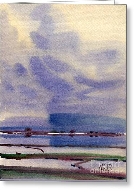 Bay Reflections Greeting Card by Donald Maier