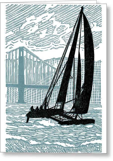 Bay Sailing Greeting Card