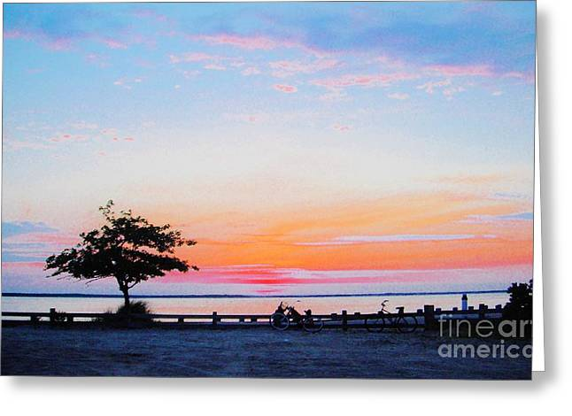 Greeting Card featuring the photograph Bay Sunset by Susan Carella