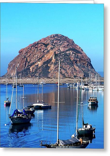 Bay View Detail Morro Bay California Greeting Card by Barbara Snyder