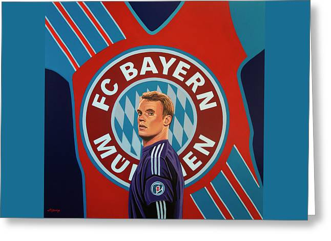 Bayern Munchen Painting Greeting Card