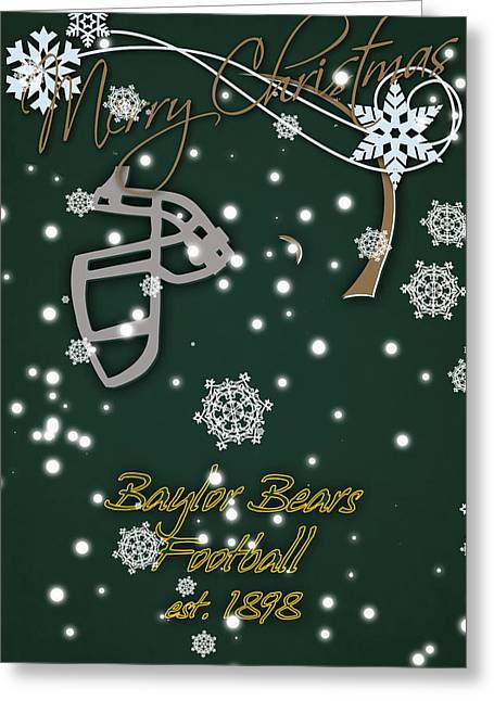 Baylor Bears Christmas Card 2 Greeting Card by Joe Hamilton