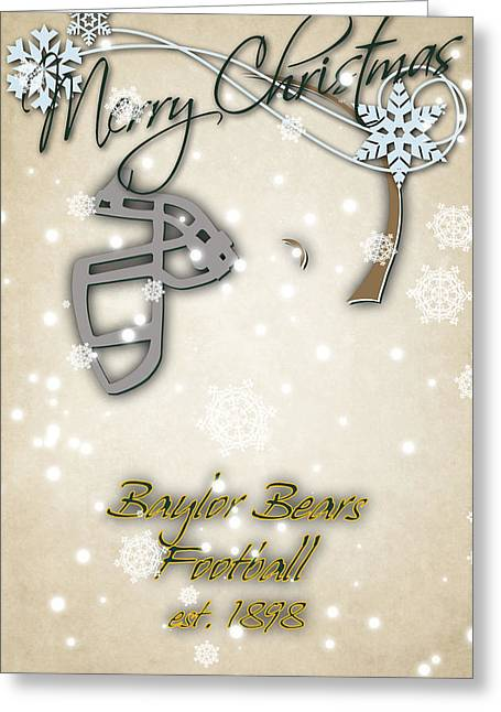 Baylor Bears Christmas Card Greeting Card by Joe Hamilton