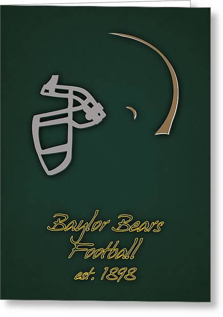 Baylor Bears Helmet 2 Greeting Card by Joe Hamilton
