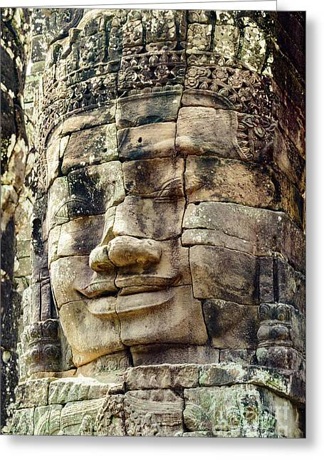 Bayon 2 Greeting Card by Werner Padarin