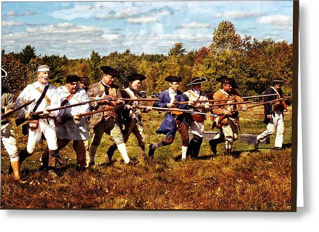 Bayonet Charge Greeting Card by Robert Nelson