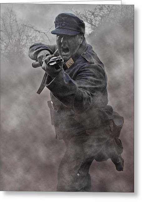 Bayonet Warrior Greeting Card by Mark H Roberts