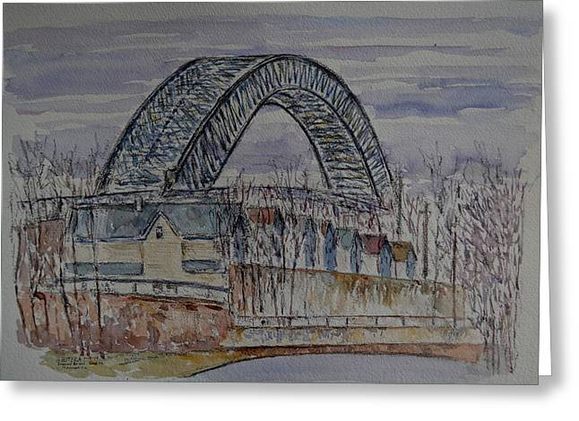 Bayonne Bridge Greeting Card by Anthony Butera