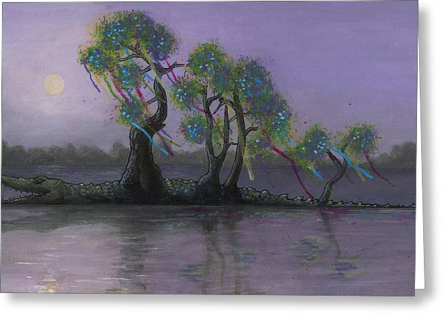 Drip Greeting Cards - Bayou Bound Greeting Card by Richardson Comly