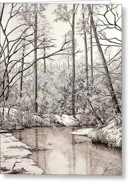 Bayou Lacombe At Peace Grove Ll Greeting Card by Colleen Marquis