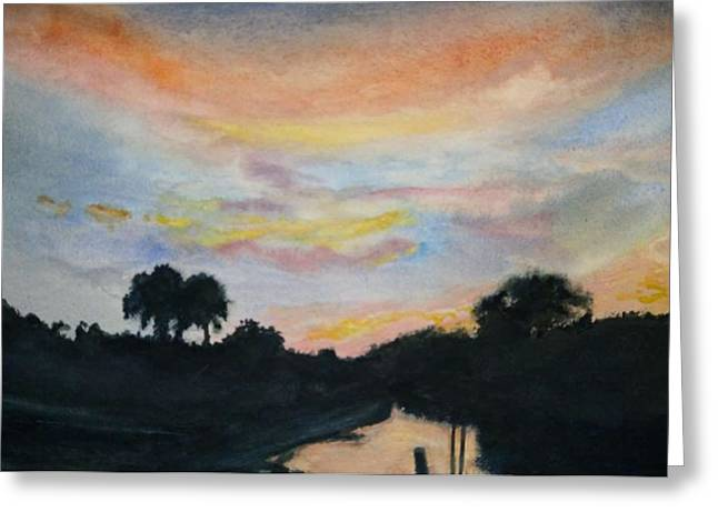 Bayou Sunset Greeting Card