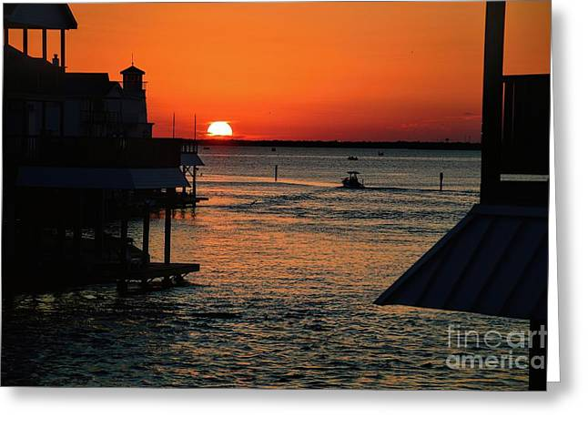 Bayou Vista Sunset Greeting Card