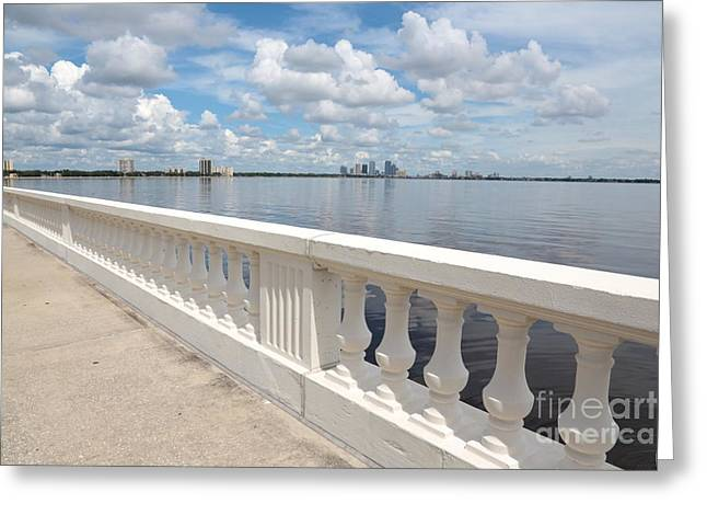 Bayshore Boulevard Balustrade Greeting Card